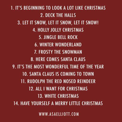 Christmas Album Track Listing